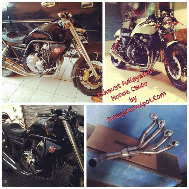 Exhaust Fullsystem, Downpipes, SlipOn/Midpipes for Honda CB400 @ knalpotharley.com