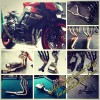 Exhaust Fullsystem, Downpipes, Midpipes, SlipOn for Big Bike (Moge)