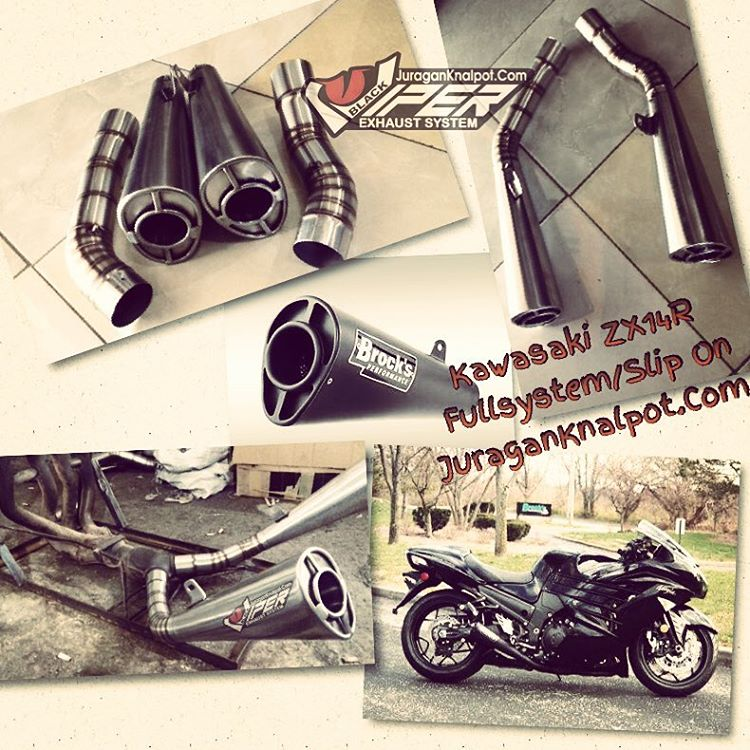 Exhaust fullsystem and slip on Kawasaki ZX14R KnalpotHarley.Com
