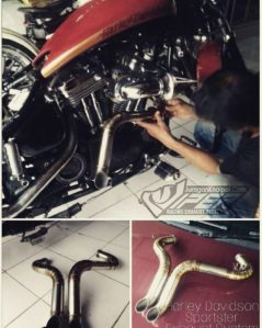 Exhaust System with Truedual for Harley Davidson Sportster